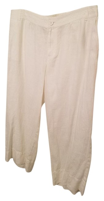 Preload https://img-static.tradesy.com/item/21281835/liz-claiborne-white-linen-cotton-wide-leg-capris-size-16-xl-plus-0x-0-1-650-650.jpg