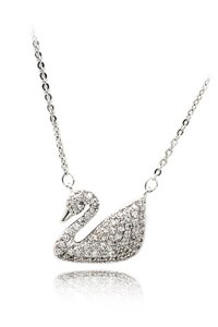 Ocean Fashion Single swan crystal neklace