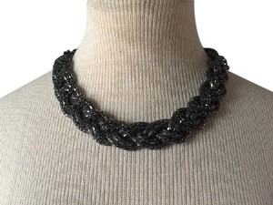 ASOS Black hematite Braided tribal Choker Necklace