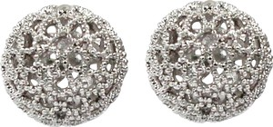 Ocean Fashion Pierced ball silver earrings