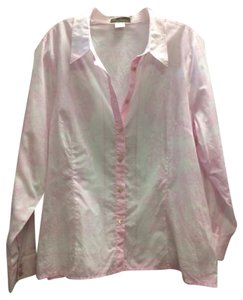Tommy Bahama Flowers Long Sleeves Button Down Shirt Pink