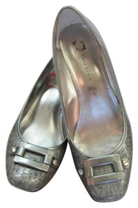 Anne Klein Size 7.50 M Patent Very Good Condition Gray, Pumps