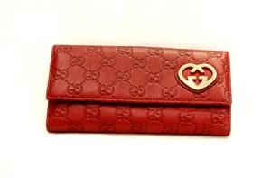 Gucci Red GUCCISSIMA LOVELY HEART WALLET