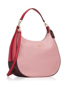 Coach Leather Large Two Way Color-blocking Summer Hobo Bag