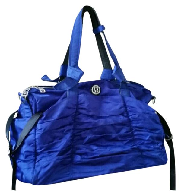 Item - Duffle Black Destined For Greatness Gym Yoga Pigment Blue Nylon Weekend/Travel Bag