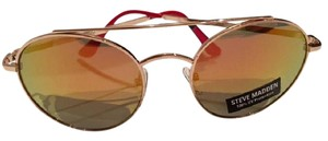 Steve Madden NEW Mirrored Brow Bar Aviators w/gold tone frame