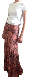 Free People Floor-length Summer Festival Front Slit Maxi Skirt pink