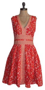 Susina short dress ORANGE Sundress Printed Summer Contrast Fit And Flare on Tradesy