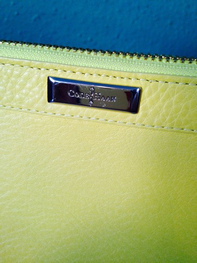 Cole Haan Parker Leather Wristlet Wallet, Yellow
