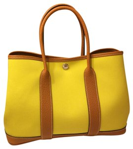 Herms Tote in AX Lime/Toffee