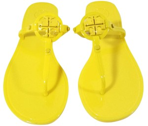 Tory Burch Flip Flops Jelly Thong Yellow Sandals