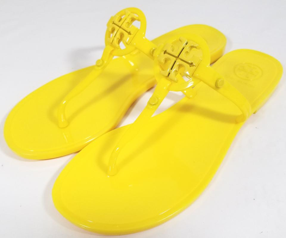 61acf712d81a Tory Burch Flip Flops Jelly Thong Yellow Sandals Image 6. 1234567