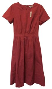 Tulip red Maxi Dress by Madewell Cotton Open Back Midi