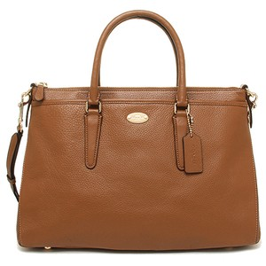 Coach Morgan Handbag Pebble Leather Pebble Leather Satchel in Saddle