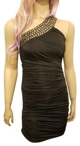 Cutie Gold Metallic Sequin Shimmer Sexy Cocktail Event Trendy Stylish Club Slimming Dress