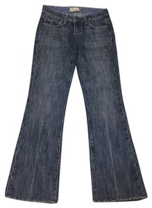 Paige Denim Dark Wash Premium Laurel Canyon Denim Boot Cut Jeans-Dark Rinse