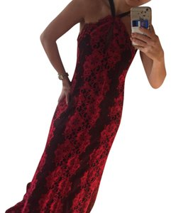 black and red Maxi Dress by Alexis Couture