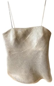 Calvin Klein Top beige/grey on outside with gold metallic lining