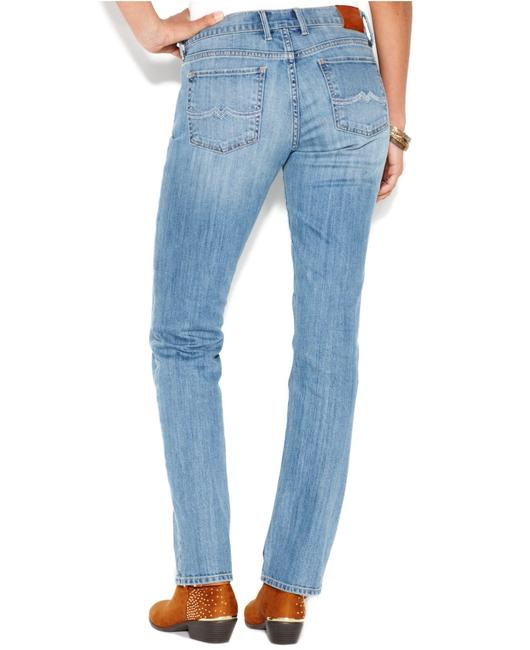 Lucky Brand Low-rise Safford Straight Leg Jeans-Medium Wash Image 3
