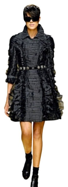 Burberry Prorsum Night Out Date Night Ruffle Flirty Italy Trench Coat Image 2