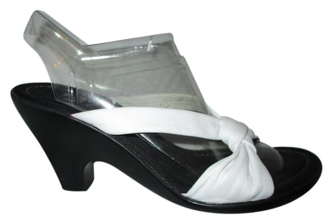 Item - White Leather Wedge A2 Sandals Size US 8.5 Regular (M, B)