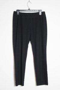 Eileen Fisher Knit Pull-on Elastic Waist Capri/Cropped Pants Black