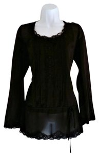 Tapemeasure Lacy Goth Victorian Lace Tunic