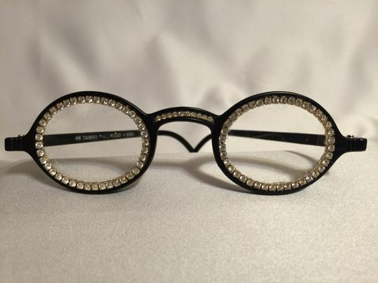 Pro Design Jeweled Black +2.0 Reading Glasses by Pro Design [ Roxanne Anjou Closet ]