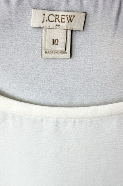 J.Crew Woven Long Sleeve Top Ivory/Black Image 3