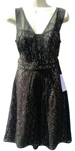Adrianna Papell New With Tag Multi Color Sweetheart Lace Illusion Dress