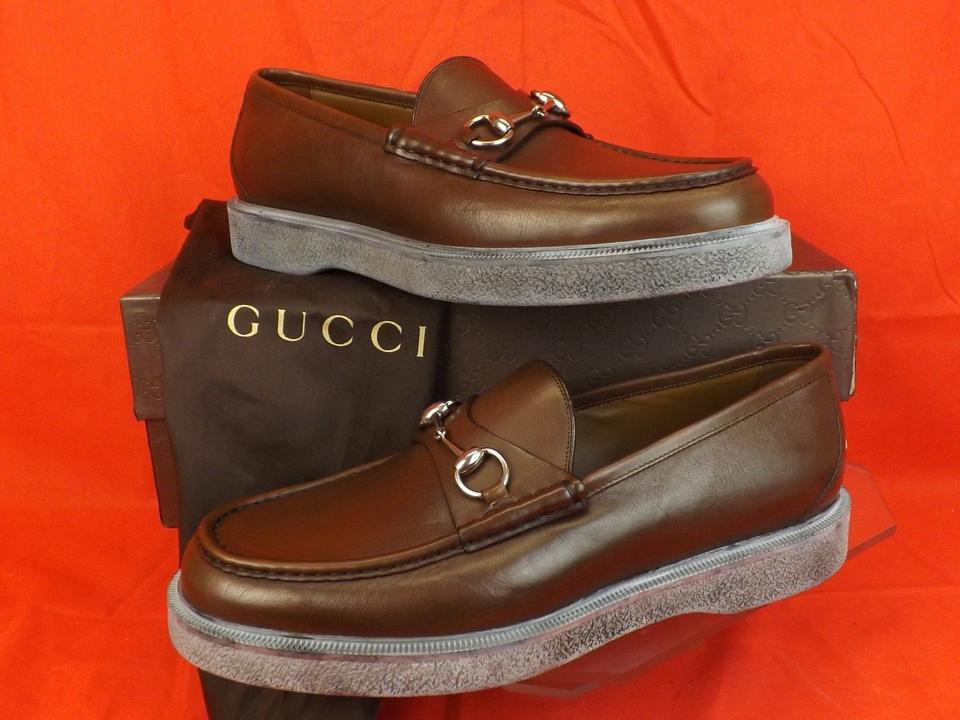 9eb4be74e9a Gucci Cocoa Horsebit Mens Delon Leather Platform Loafers 11.5 12.5 353311  Shoes Image 0 ...