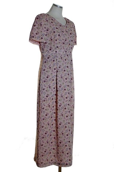 Pink Maxi Dress by Maggy London Print Short Sleeve Woven Image 1