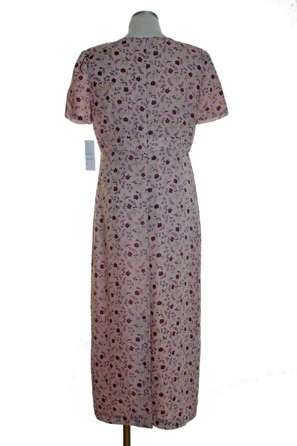 Pink Maxi Dress by Maggy London Print Short Sleeve Woven Image 2