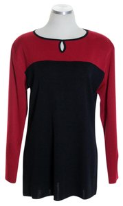 Misook Colorblock Knit Long Sleeve Tunic