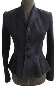 Ralph Lauren Collection Suede Size 2 Navy Blazer