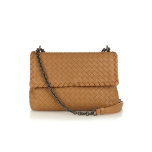 408cc20005 Bottega Veneta Cross Body Bag · Bottega Veneta. Nwts Olimpia Intrecciato  Camel Nappa Leather ...