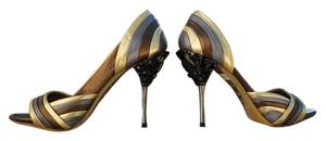 Miu Miu bronze/gold/silver Pumps