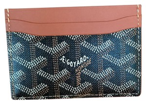 Goyard Brand New Back & Tan Saint St Suplice Credit Card Holder