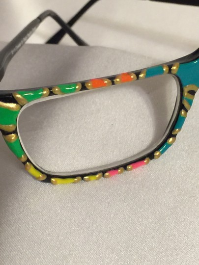 Art in Eyewear by Ready Reading Psychedelic Handpainted +2.0 Reading Glasses by Art in Eyewear [ Roxanne Anjou Closet ]