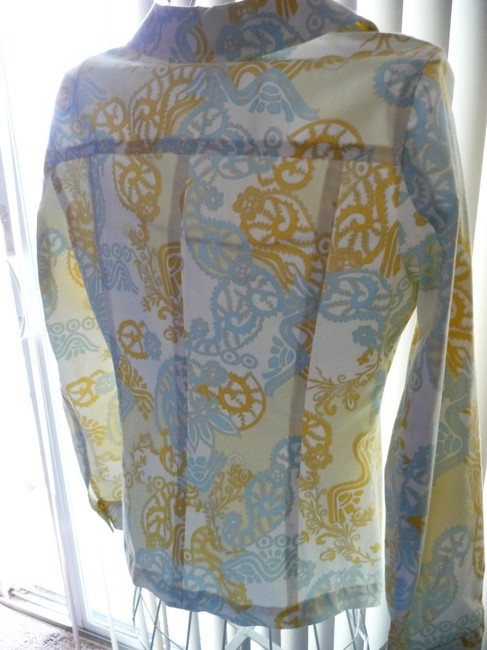 Doncaster Baby Blue and Pastel Yellow Jacket Image 2