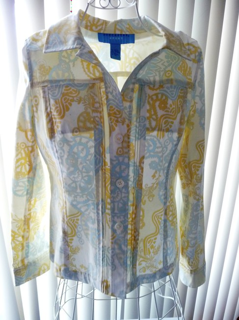 Doncaster Baby Blue and Pastel Yellow Jacket Image 4