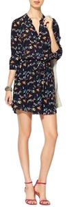 Piperlime short dress Navy floral on Tradesy