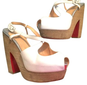 Christian Louboutin white Wedges