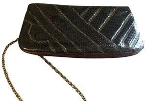bags by Supreme Leather Snakeskin Brown Clutch
