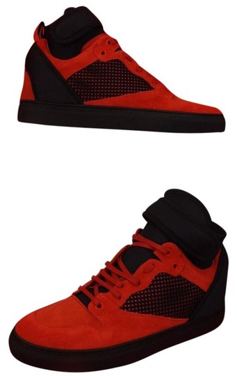 Preload https://img-static.tradesy.com/item/21284111/balenciaga-redblack-mens-mesh-neoprene-strap-hi-top-sneakers-47-us-14-shoes-0-0-540-540.jpg