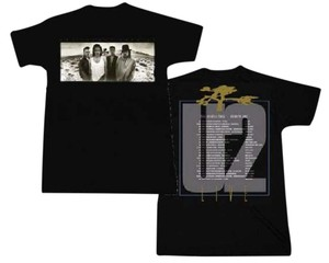 U2 Band Shirts Hippie Boho The Treasured Hippie T Shirt Black