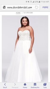 Terani Couture Tulle Plus Size Gown With Web-beaded Bodice Wedding Dress