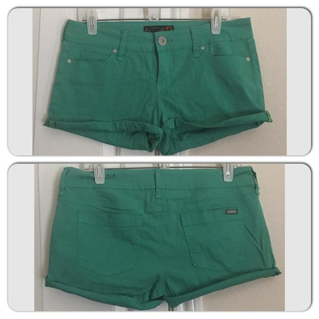 Guess Cuffed Shorts Green Image 0