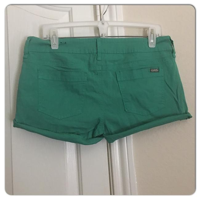 Guess Cuffed Shorts Green Image 1