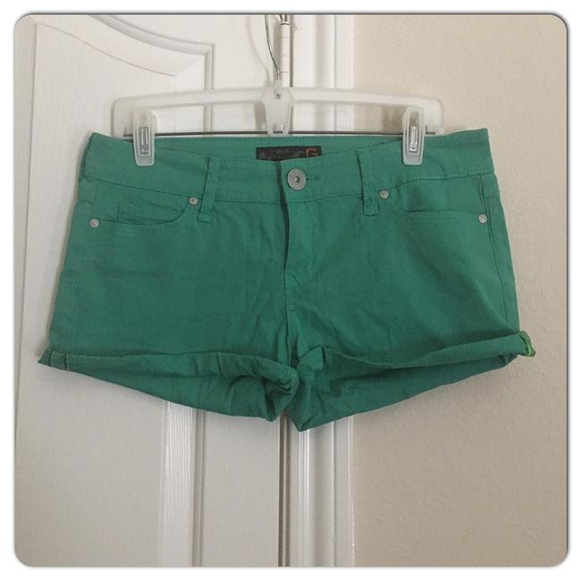 Guess Cuffed Shorts Green Image 2